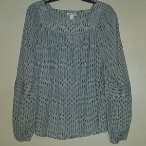 NWT Lauren Conrad Heart Boat Neck Blouse